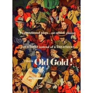 1950 Ad John Falter Illustration Signed Artwork Old Gold Cigarettes