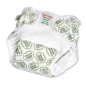 Organic Cotton Diaper Cover   Green Cotton Balls (LARGE 20 26 lbs