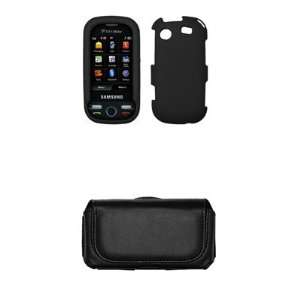 Samsung Messager Touch R630 Premium Black Rubberized Case Cover