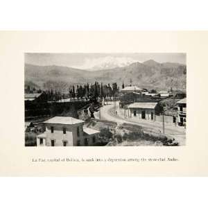 1931 Print Nuestra Senora De La Paz Bolivia Andes