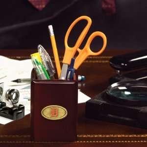 MLB Detroit Tigers Walnut Pencil Holder for Office Desk