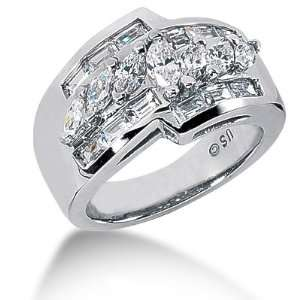 14kt. Gold Womens Diamond Anniversary Band Ring with Marquise and