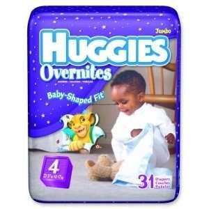 Huggies Baby Shaped Diapers    Case of 124    KBC52094