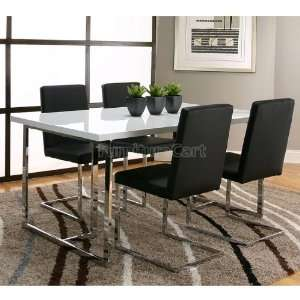 Spica Dining Room Set with Black Chairs F5691 b dr set