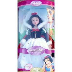 Snow White Holiday Brass Key Porcelain Doll w/stand Toys