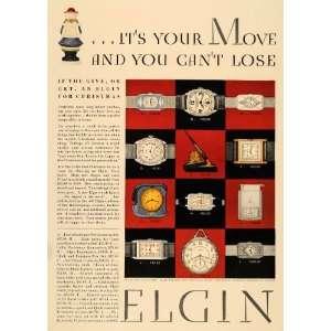 1929 Ad Elgin Wrist Watches Jewelry Christmas Gift
