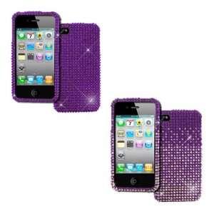 EMPIRE Apple iPhone 4 / 4S 2 Pack of Full Diamond Bling