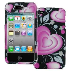 EMPIRE Black with Pink Hearts Design Hard Case Cover for
