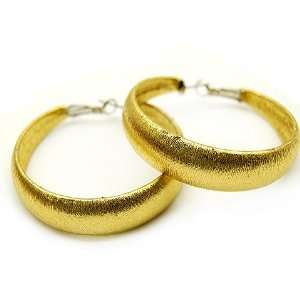 Fashion Lucite Hoop Earrings Metallic Gold Small Jewelry