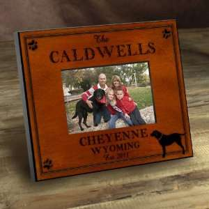 Baby Keepsake: Personalized Cabin Series Labrador Picture Frame: Baby