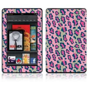Leopard Design Decorative Skin Decal Sticker for  Kindle Fire