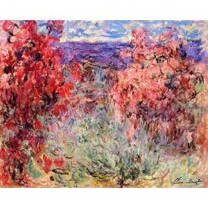 Claude Monet Flowering Trees Near The Coast  Art Reproduction Oil Pa