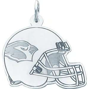 14K White Gold NFL Arizona Cardinals Football Helmet Charm: