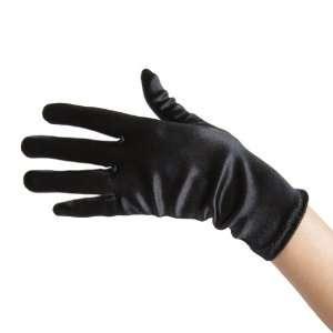 Black Satin Gloves (Wrist Length) ~ Great for Formal