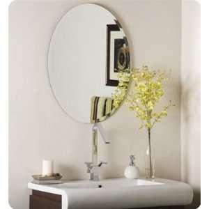 Wonderland Odelia Oval Bevel Frameless Wall Mirror