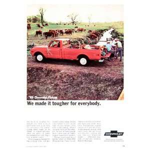 1969 Ad Chevrolet Pickup Truck General Motors Detroit
