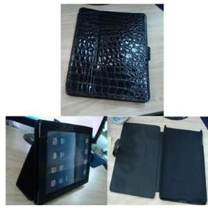 Black REAL Leather Case Cover Pouch Stand for Apple iPad 2