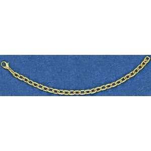 Mark Edwards 14K Gold 8 Heavy Oval Link Bracelet