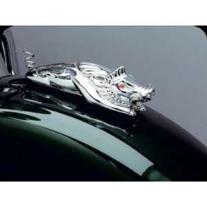 9022 Chrome Wild Boar Fender Ornament For Harley Davidson Automotive