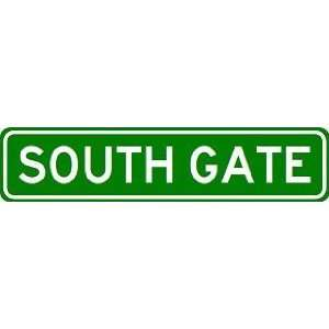 SOUTH GATE City Limit Sign   High Quality Aluminum Sports