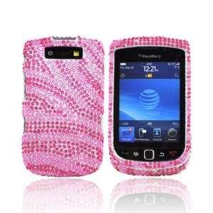 For Blackberry Torch Bling Hard Case HOT PINK Zebra Electronics