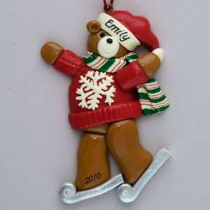 Personalized Ice Skating Christmas ornament: Home