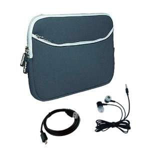 7 inch Black Dual Pocket Carrying Case + Micro USB Cable