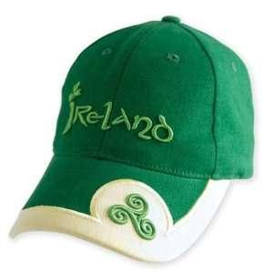 New Green Celtic Design Baseball Cap Ireland hat (Irish Imp) 02046719
