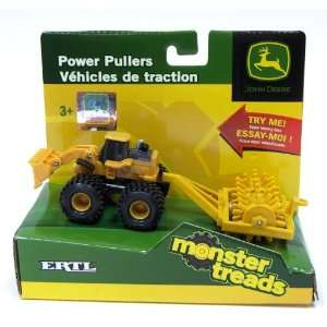 Ertl John Deere Power Pullers Monster Treads Small Yellow