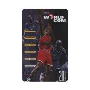 Collectible Phone Card 20m Michael Jordan Jumping Layout