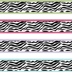 Zebra Pink Prepasted Wall Border