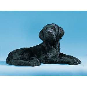 XX Large Labrador Dog Puppy Lying Figure Figurine Realistic Lifelike