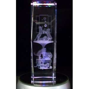 Laser Etched Crystal Cats 6 Inches Tall Home & Kitchen