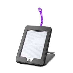 Black Genuine Leather Case & Cover With Stand For s Kindle
