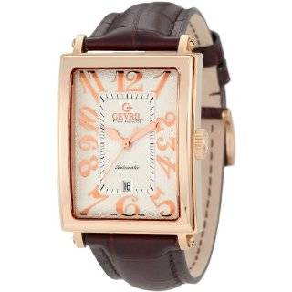 Avenue of America Swiss Automatic Rose Gold Sub Second Leather Watch
