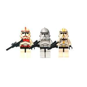 LEGO Star Wars Clone Trooper Trio, Red, White and Yellow with Guns
