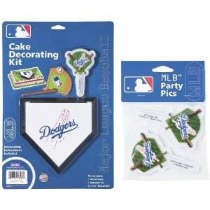 MLB Los Angeles Dodgers Lay on Cake/Cupcake Decorations