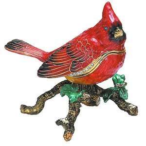 Red Macaw Bird Trinket Box