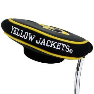 Tech Yellow Jackets Black Mallet Putter Cover