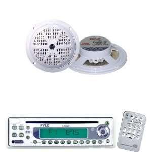 Pyle Marine Radio Receiver and Speaker Package   PLCD9MR