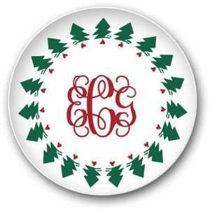 Preppy Plates   Personalized Melamine Plates (Christmas