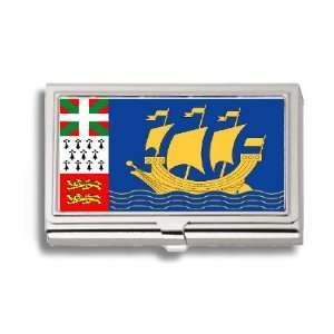 Pierre Miquelon Flag Business Card Holder Metal Case