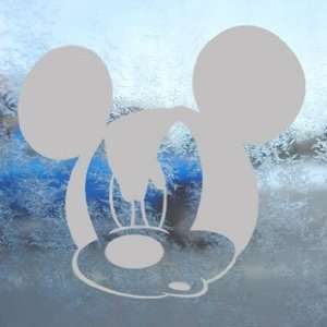 Disney Gray Decal Mickey Mouse Car Truck Window Gray