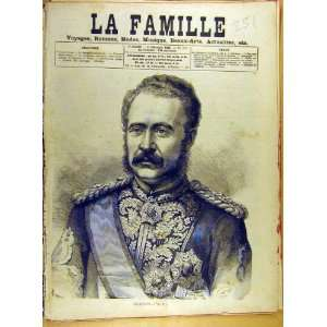 1885 Portrait Gordon Pacha Military French Print