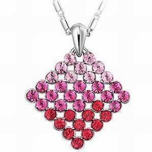 Swarovski Crystal Red Pendant Necklace 18 cn9002 Jewelry