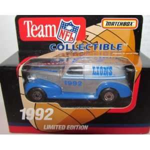 Detroit Lions 1992 NFL Diecast Sedan 163 Scale Collectible Limited