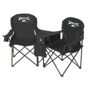 Philadelphia Eagles NFL Deluxe Folding Conversation Arm Chair by