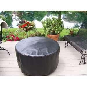Fire Pit Cover  Black 42 Inch Patio, Lawn & Garden