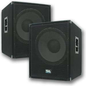 II   Pair of PA 18 Subwoofer Speaker Cabinet Musical Instruments