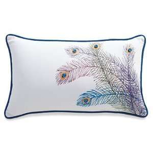 Peacock Feather Outdoor Lumbar Pillow   Frontgate Patio